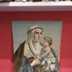 Arte: CROMOLITOGRAFÍA RELIGIOSA ANTIGUA ( PAPEL )SIGLO XVIII. MEDIDAS 68X54CM. Lote 258513745