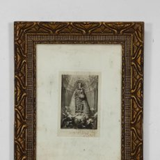 Arte: ANTIGUO GRABADO - NUESTRA SRA DE LOS DESAMPARADOS, PATRONA DE VALENCIA - DIBUJO V. LOPEZ. Lote 259208545
