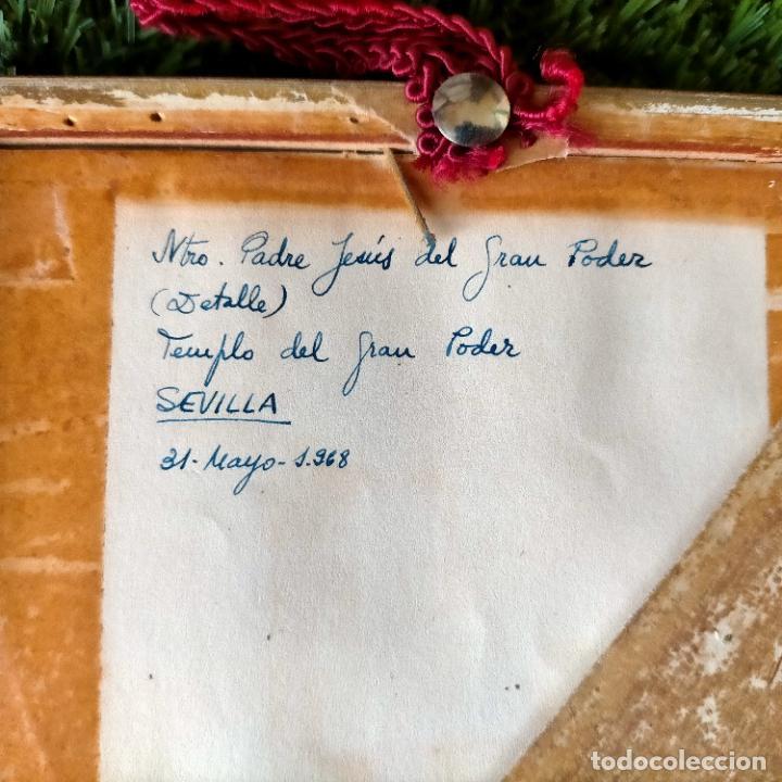 Arte: 1968 dibujo a lapiz carboncilla carboncillo cristo del gran poder semana santa sevilla marco madera - Foto 8 - 259249180