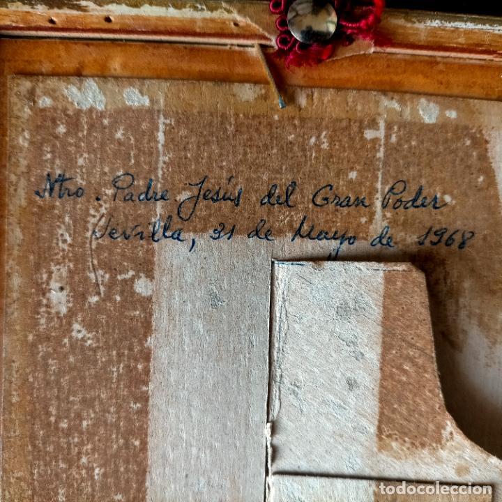 Arte: 1968 dibujo a lapiz carboncilla carboncillo cristo del gran poder semana santa sevilla marco madera - Foto 13 - 259249180