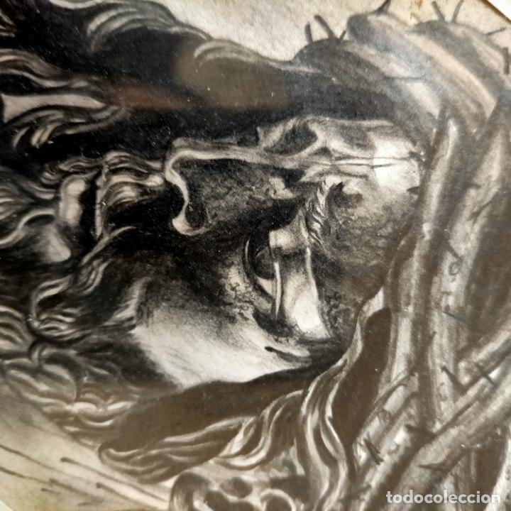 Arte: 1968 dibujo a lapiz carboncilla carboncillo cristo del gran poder semana santa sevilla marco madera - Foto 17 - 259249180