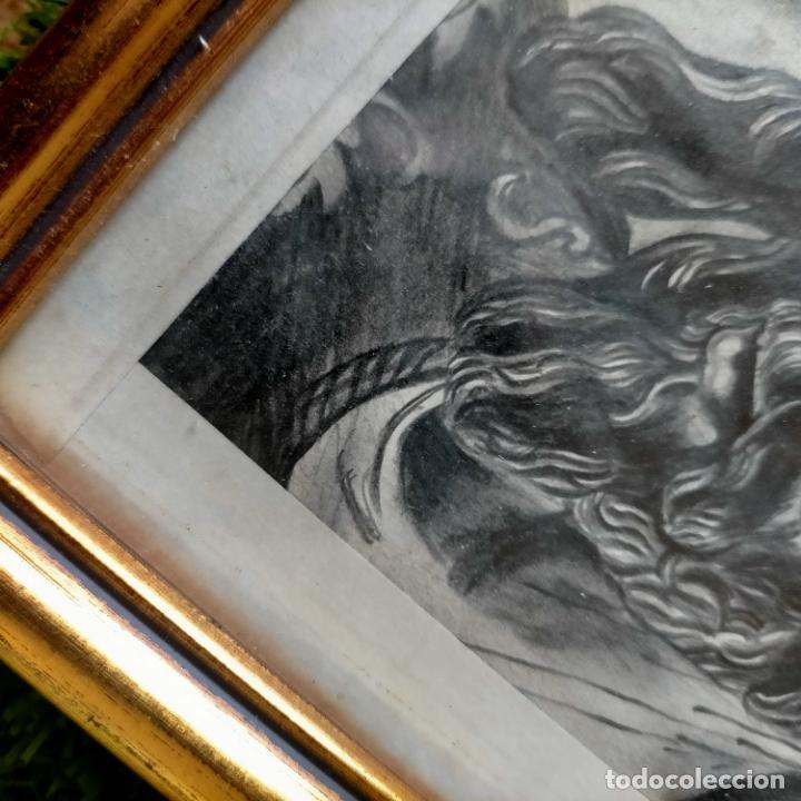 Arte: 1968 dibujo a lapiz carboncilla carboncillo cristo del gran poder semana santa sevilla marco madera - Foto 22 - 259249180