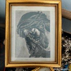 Arte: 1968 DIBUJO A LAPIZ CARBONCILLA CARBONCILLO CRISTO DEL GRAN PODER SEMANA SANTA SEVILLA MARCO MADERA. Lote 259249180