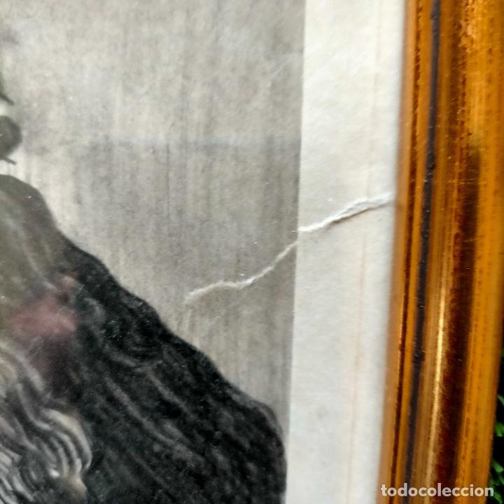Arte: 1968 dibujo lapiz carboncilla carboncillo cristo JESUS DE PASION semana santa sevilla marco madera - Foto 6 - 259251115