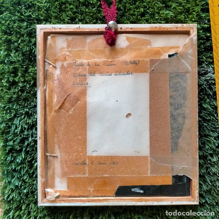 Arte: 1968 dibujo lapiz carboncilla carboncillo cristo JESUS DE PASION semana santa sevilla marco madera - Foto 10 - 259251115