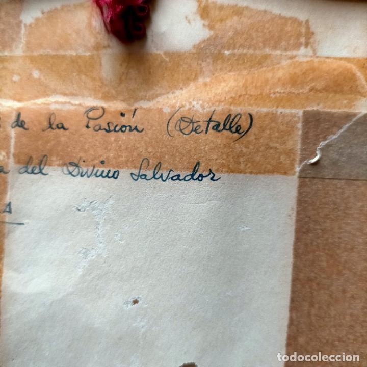 Arte: 1968 dibujo lapiz carboncilla carboncillo cristo JESUS DE PASION semana santa sevilla marco madera - Foto 11 - 259251115