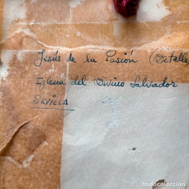 Arte: 1968 dibujo lapiz carboncilla carboncillo cristo JESUS DE PASION semana santa sevilla marco madera - Foto 12 - 259251115