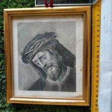 Arte: 1968 DIBUJO LAPIZ CARBONCILLA CARBONCILLO CRISTO JESUS DE PASION SEMANA SANTA SEVILLA MARCO MADERA. Lote 259251115