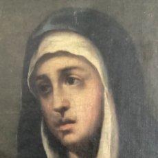 Arte: ANTIGUO ÓLEO VIRGEN DOLOROSA SEGÚN MURILLO SIGLO XVIII O XIX. Lote 259875130