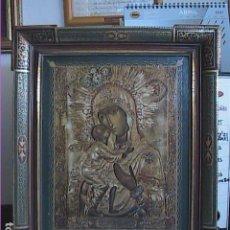 Arte: EXCELENTE Y ANTIGUO ICONO BIZANTINO. VIRGEN DE VLADIMIR. 1940.. Lote 260025740