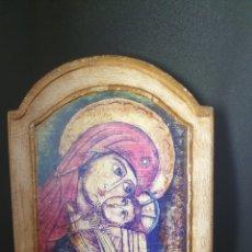 Arte: ANTIGUO ICONO RELIGIOSO MADERA. Lote 260371665