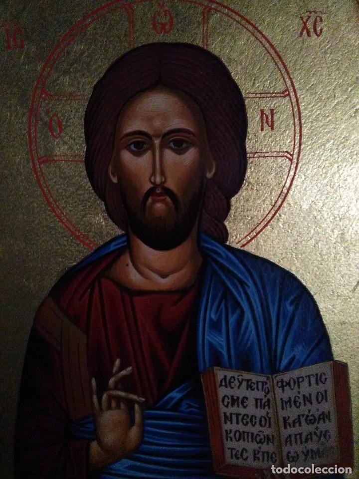 ICONO GRIEGO PANTOCRÁTOR / PINTADO A MANO (Arte - Arte Religioso - Iconos)