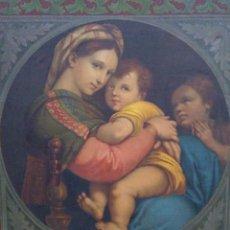 Arte: LA VIRGEN DE LA SILLA (ANTIGUA Y EXCELENTE COPIA DE RAFAEL) / GRANDES DIMENSIONES. Lote 260653305