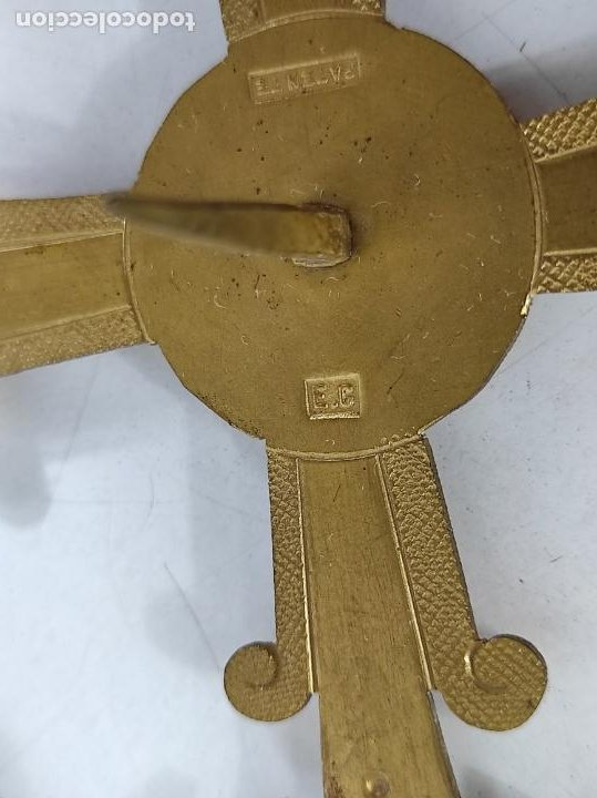 Arte: Preciosa Corona para Virgen, Santo - Latón cincelado - Decoración con Cristal - Diámetro 15 cm - Foto 5 - 260710550