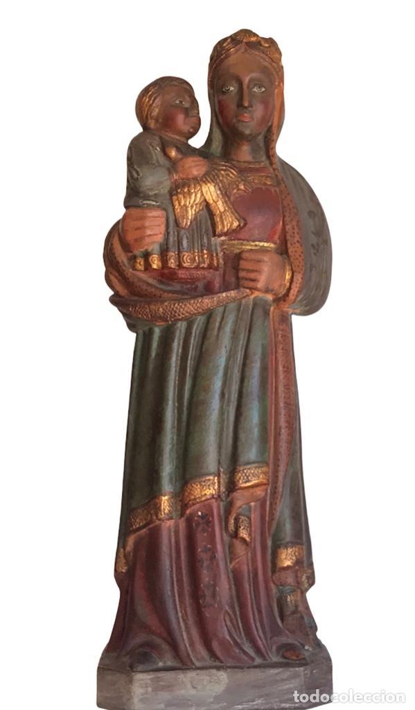 VIRGEN DE TERRACOTA MARE DE DÉU DELS TORRENTS. VIMBODÍ.TARRAGONA (Arte - Arte Religioso - Escultura)