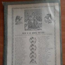 Art: DOS GOIGS : 1890 GOZOS A LA DIVINA PASTOR - 1923 GOIGS DE SANT LAMBERT. Lote 261120865