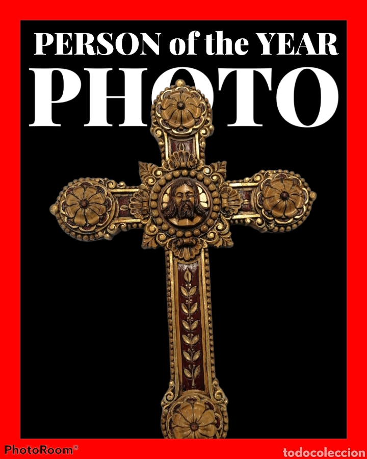 Arte: cruz tallada en madera - Foto 2 - 114897295
