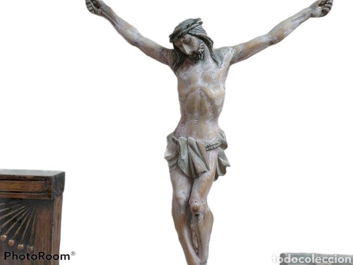 Arte: Cristo madera pino antiguo - Foto 2 - 118967335