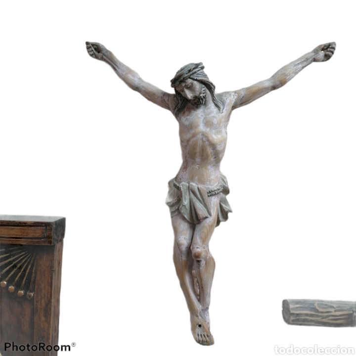 Arte: Cristo madera pino antiguo - Foto 3 - 118967335