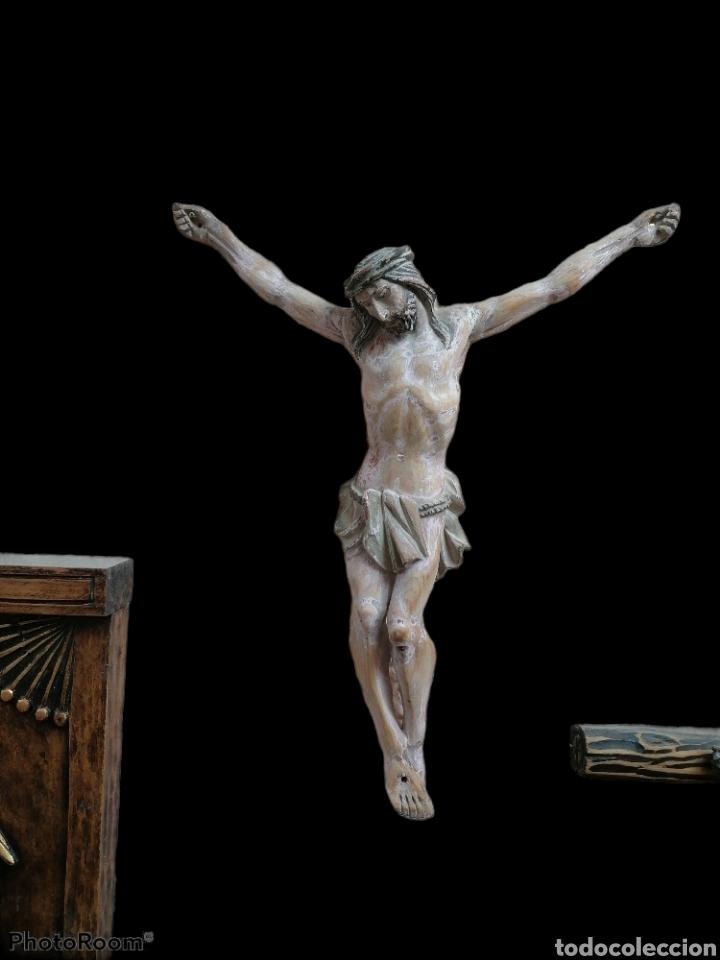 CRISTO MADERA PINO ANTIGUO (Arte - Arte Religioso - Escultura)