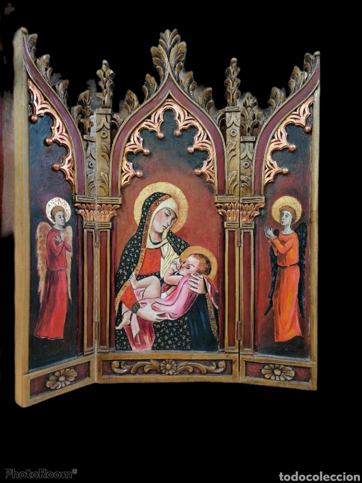 TRIPTICO MADERA DE LENGA (Arte - Arte Religioso - Escultura)