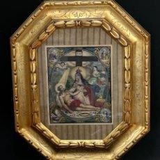 Arte: ESTUPENDO GRABADO COLOREADO - VIRGEN DOLOROSA - S. XIX. Lote 261348140