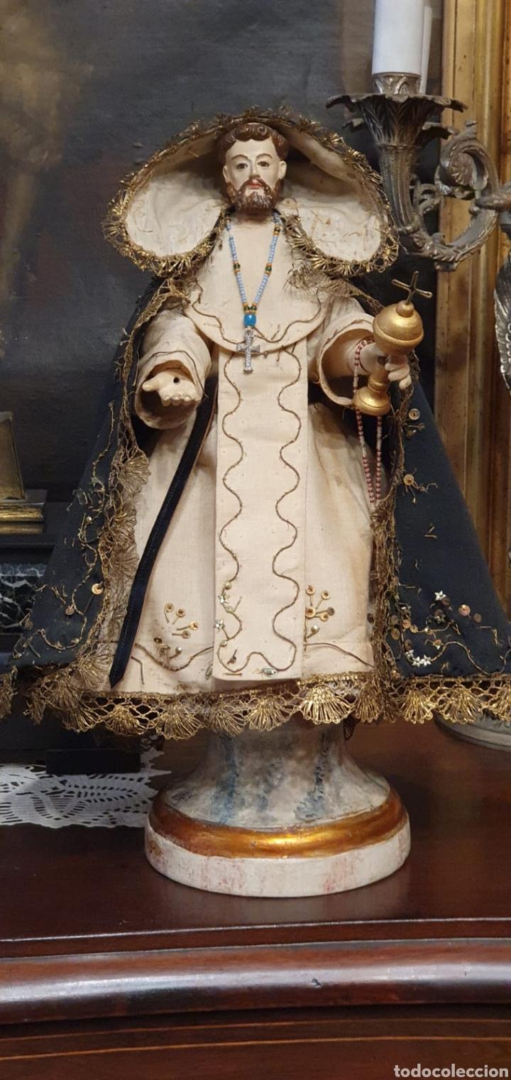ESCULTURA DE SAN JACINTO - TERRACOTA XIX - LEER DESCRIPCIÓN - (Arte - Arte Religioso - Escultura)