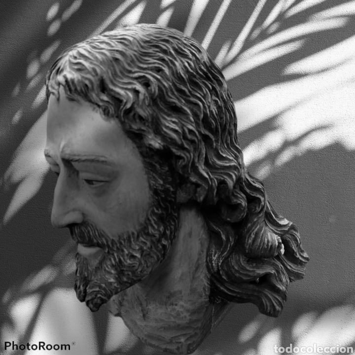 Arte: Cabeza cristo madera cedro - Foto 10 - 116309580