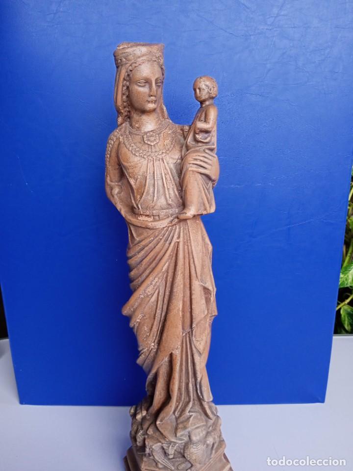 VIRGEN MARÍA, CATEDRAL DE TARRAGONA , TERRACOTA. 50CM (Arte - Arte Religioso - Escultura)
