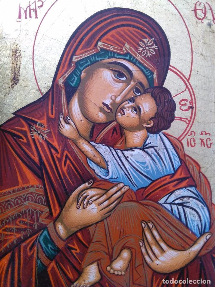 VIRGEN CON NIÑO / ICONO ORIGINAL / PINTADO A MANO (Arte - Arte Religioso - Iconos)