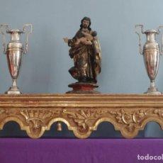 Arte: REPISA O BANCO DE RETABLO ELABORADO EN MADERA DORADA. S. XVIII. MIDE 104 X 26 CM.. Lote 261862740