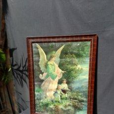 Arte: ANTIGUO CUADRO DE ANGEL DE LA GUARDA P.S XX. Lote 261867855