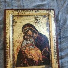 Arte: ICONO BIZANTINO DE MADERA CON LUSTRES DE ORO. Lote 261966940