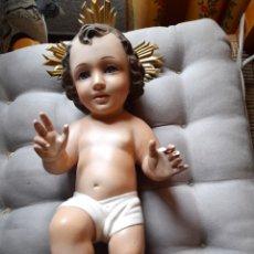 Arte: ANTIGUO GRAN NIÑO JESÚS DE OLOT ,33CM DE ALTURA. Lote 262069570