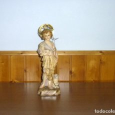 Arte: ANTIGUO NIÑO JESUS - ESTUCO OJOS DE CRISTAL.35 CM.. Lote 262079975