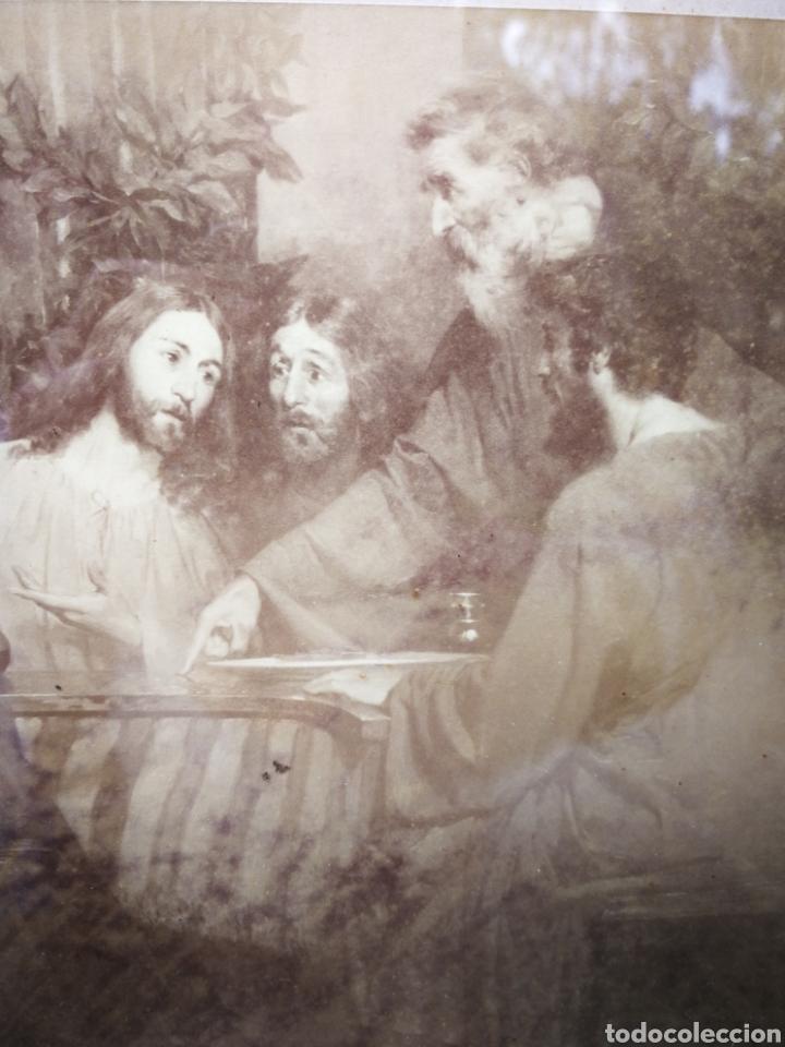 Arte: INCREIBLE SANTA CENA DE ANTONI ESTRUCH I BROS (ASPECTO FOTOGRÁFICO) , ENMARCADA, 93X56CM. 1897. - Foto 2 - 262199245