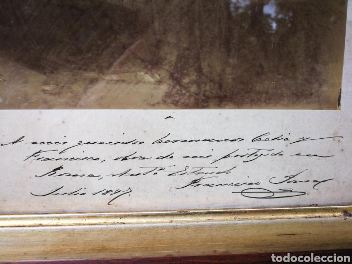 Arte: INCREIBLE SANTA CENA DE ANTONI ESTRUCH I BROS (ASPECTO FOTOGRÁFICO) , ENMARCADA, 93X56CM. 1897. - Foto 4 - 262199245