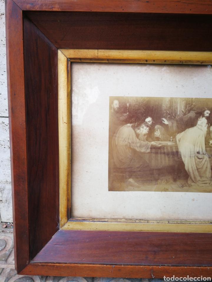 Arte: INCREIBLE SANTA CENA DE ANTONI ESTRUCH I BROS (ASPECTO FOTOGRÁFICO) , ENMARCADA, 93X56CM. 1897. - Foto 5 - 262199245