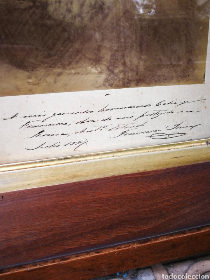 Arte: INCREIBLE SANTA CENA DE ANTONI ESTRUCH I BROS (ASPECTO FOTOGRÁFICO) , ENMARCADA, 93X56CM. 1897. - Foto 7 - 262199245