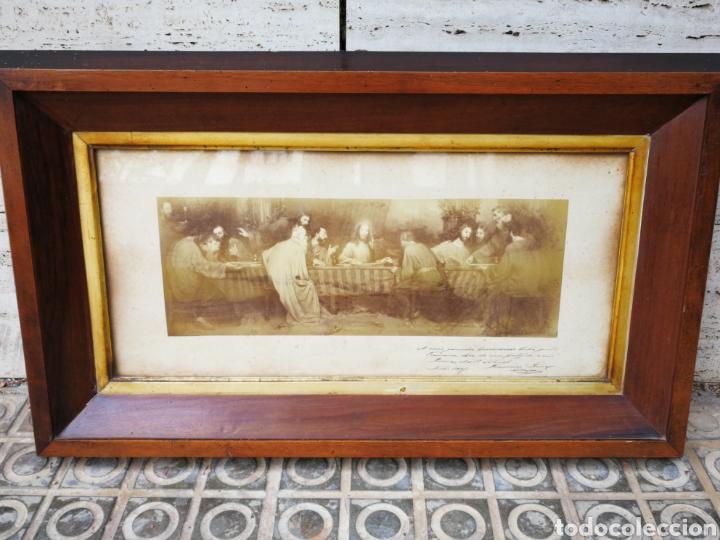 Arte: INCREIBLE SANTA CENA DE ANTONI ESTRUCH I BROS (ASPECTO FOTOGRÁFICO) , ENMARCADA, 93X56CM. 1897. - Foto 10 - 262199245