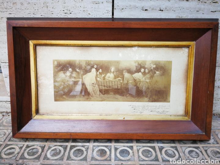 INCREIBLE SANTA CENA DE ANTONI ESTRUCH I BROS (ASPECTO FOTOGRÁFICO) , ENMARCADA, 93X56CM. 1897. (Arte - Arte Religioso - Pintura Religiosa - Otros)