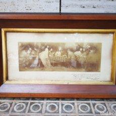 Arte: INCREIBLE SANTA CENA DE ANTONI ESTRUCH I BROS (ASPECTO FOTOGRÁFICO) , ENMARCADA, 93X56CM. 1897.. Lote 262199245