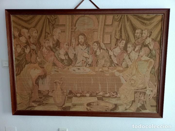 ANTIGUO TAPIZ DE LA ULTIMA CENA (Arte - Arte Religioso - Pintura Religiosa - Otros)