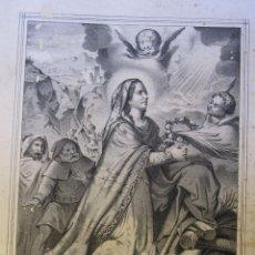 Arte: SANTA EULALIA DE BARCELONA, VIRGEN Y MARTIR. LITOGRAFIA. VALENCIA MEDIADOS SIGLO XIX. Lote 262364210
