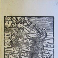 Arte: ANTIGUA XILOGRAFIA. EL V. P. IGNACIO FIOL. MALLORQUIN DE LA COMPAÑÍA DE JESUS MARTIRISADO... 1684. Lote 262381990