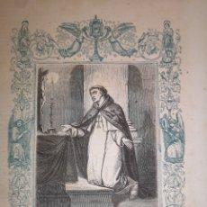 Arte: GRABADO RELIGIOSO - SAN MIGUEL DE LOS SANTOS - AÑO 1852 - AÑO CRISTIANO - 17.50 X 26 CM - IMAG.12X17. Lote 262393210