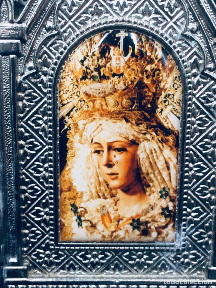 Arte: ANTIGUO TRIPTICO RELIGIOSO DE LA VIRGEN MACARENA DE SEVILLA - Foto 5 - 262810280