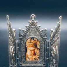 Arte: ANTIGUO TRIPTICO RELIGIOSO DE LA VIRGEN MACARENA DE SEVILLA. Lote 262810280