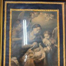 Arte: MARAVILLOSA LÁMINA ANTIGUA FRANCESA, EL SUEÑO DEL NIÑO JESÚS, DECORACIÓN ISABELINA. Lote 262941005