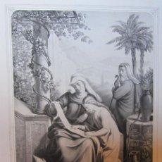 Arte: LITOGRAFIA SANTA ANA INSTRUYENDO A LA VIRGEN. PARIS L. TURGIS. SIGLO XIX.. Lote 263025375